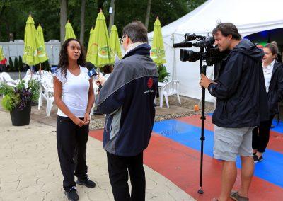 Conférence de presse des Internationaux de tennis junior