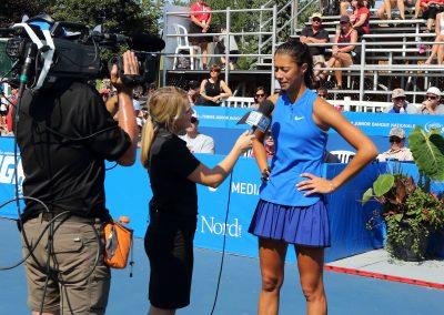 Entrevue finale simple féminine des Internationaux de tennis junior