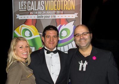 Gala Vidéotron avec Cathy Gauthier et Laurent Paquin