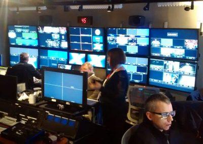 Salle de production durant le tournage